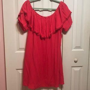 Pink Off The Shoulder Dress NWOT